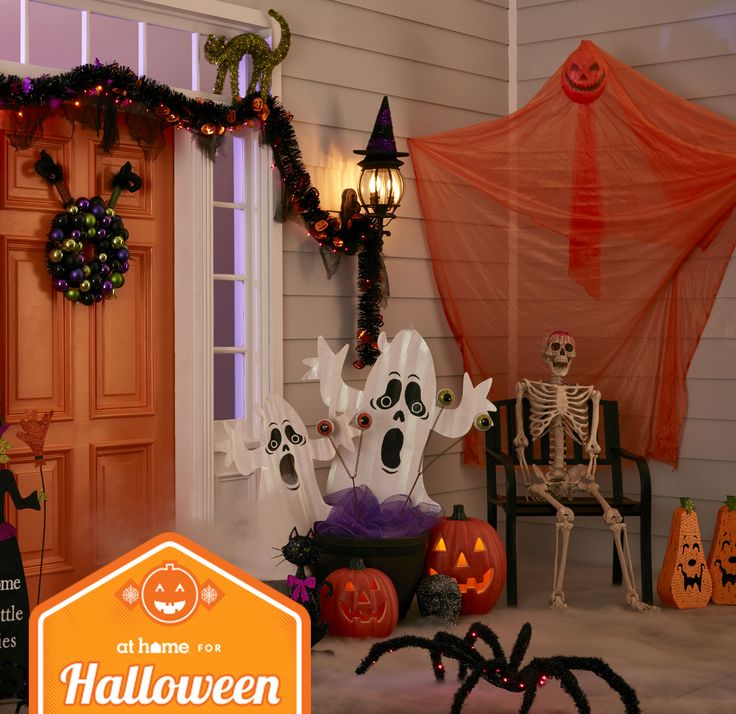 include these boo tiful haunted halloween friends to your outdoor dcor to add some festive - Cute Halloween Decor