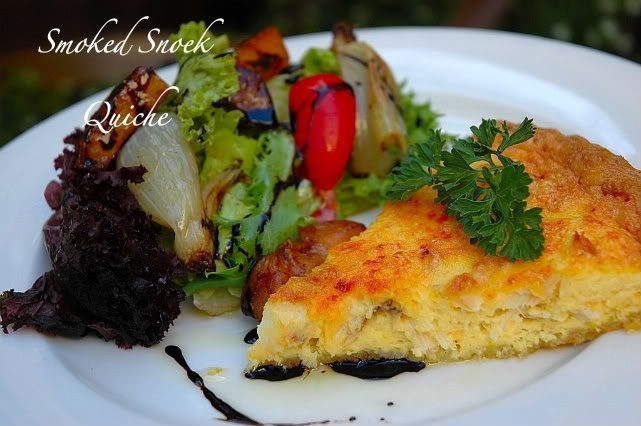 Smoked Snoek Quiche - A delicasy from the heart of the Capelands | My easy cooking by Nina Timm.