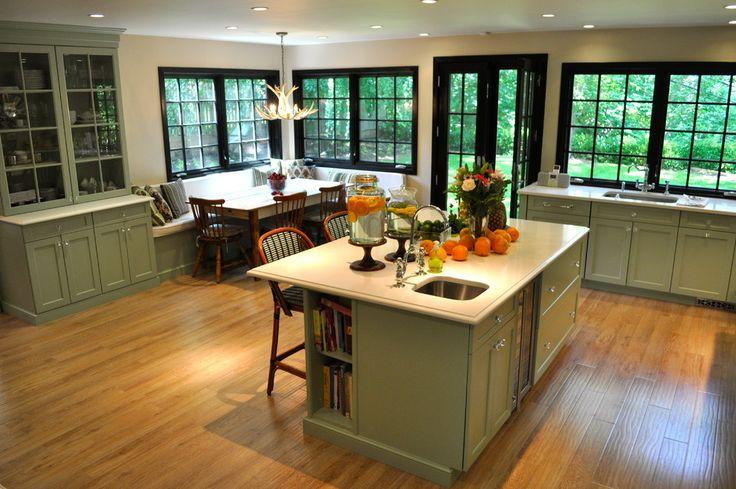 Wonderful Corner Breakfast Nook with Windows
