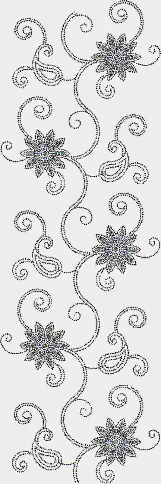 kouse masjien borduurwerk patroon