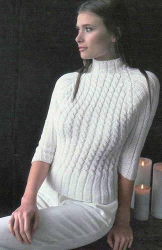 Модели вязания спицами джемперов и свитеров