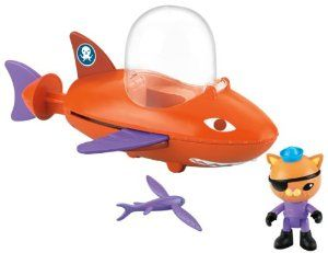 Kwazii toy to go on top of Octonauts cake - present and cake decoration in one!