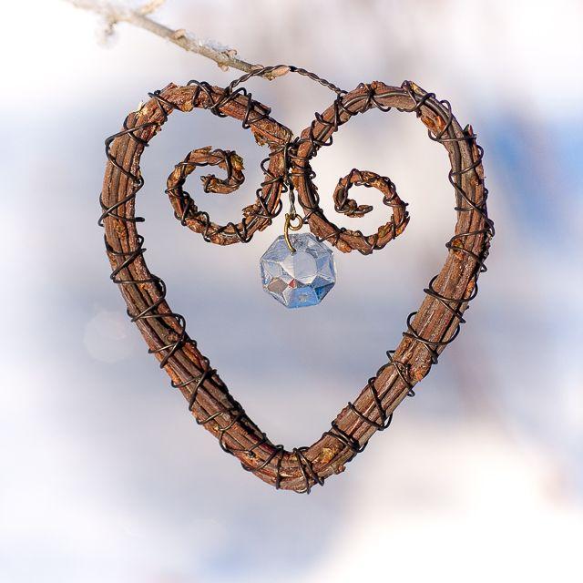 A heart made of Birch Twigs. Risusydän. www.risusta.fi