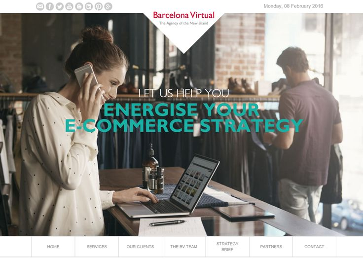 #E-COMMERCE · Changes in our web reflect our increasing commitment to developing effective Digital Marketing strategies for electronic commerce · www.bvirtual.com · February 2016
