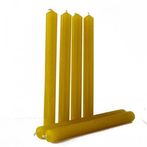 Set of 6 Beeswax Household Candles