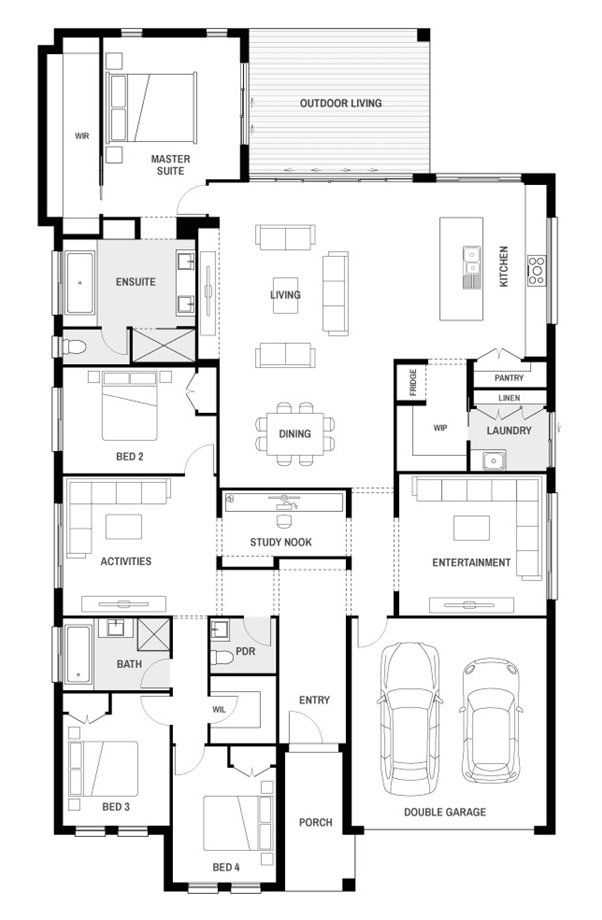 Oasis 34 Contemporary Floor Plan Brighton Homes