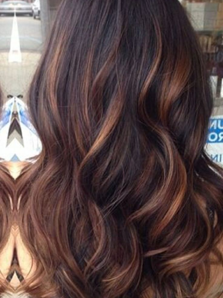 Caramel Ballyage Reddish Brown Hair Color Ombre Hair
