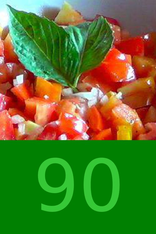 90 calories for this classical Italian dish. And yes, there's oil in it! www.strabuon.org