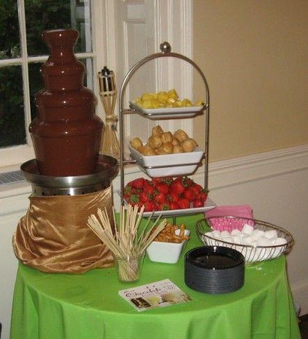 Chocolate Fountain display | Fall wedding ideas | Pinterest