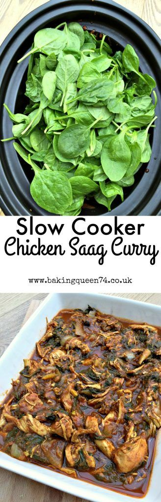 Slow Cooker Chicken Saag Curry- no coconut or dairy