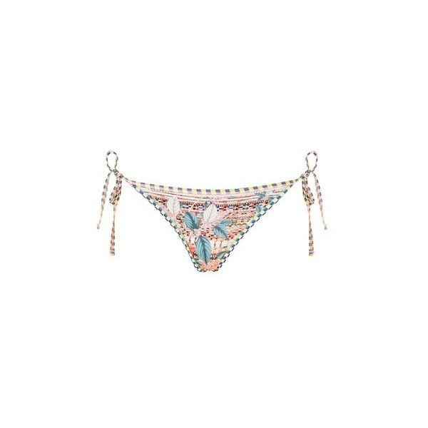 Topshop Floral Aztec Print Tieside Bikini Bottoms (€16) ❤ liked on Polyvore featuring swimwear, bikinis, bikini bottoms, multi, flower print bikini, floral two piece, aztec bikini bottoms, floral swimwear and floral bikini bottoms