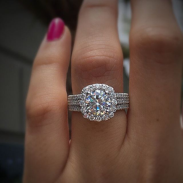 31 Real-Girl Halo Engagement Rings That Are Giving Us Bling Envy