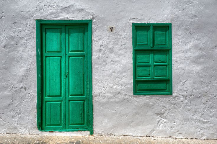 Oh! how I miss those green doors!Lanzarote in the Canary Islands
