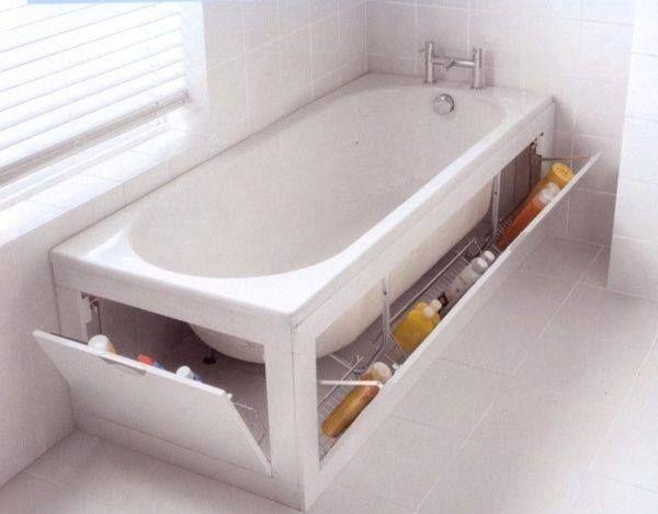 Praktische Aufbewahrung in der Badewanne   – Francine Brisson
