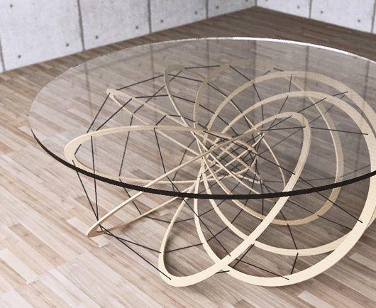 yoshinobu miyamoto - torus geometry inspired furniture