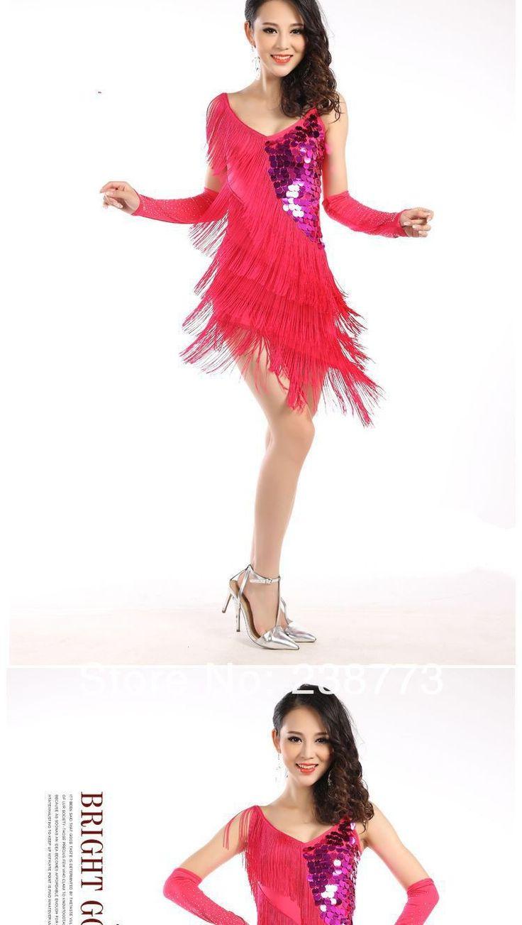 Aliexpress.com: Compre 2015 venda quente nova marca barata dança Latin franja trajes para mulheres latina Ballroom vestido na venda 4 cores de confiança Dança de Salão fornecedores em Belly dance discount store