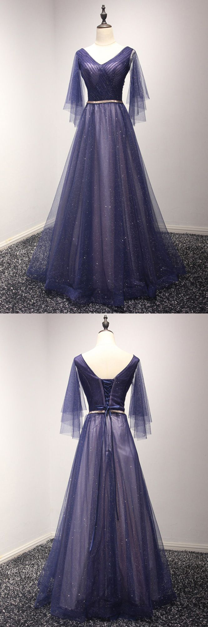 Only $169, Sparkly Puffy Tulle Long Blue Prom Dress With Sweetheart Sleeves #AKE18012 at #SheProm. SheProm is an online store with thousands of dresses, range from Prom,Formal,Evening,Blue,A Line Dresses,Long Dresses,Long Sleeve Dresses,Customizable Dresses and so on. Not only selling formal dresses, more and more trendy dress styles will be updated daily to our store. With low price and high quality guaranteed, you will definitely like shopping from us.