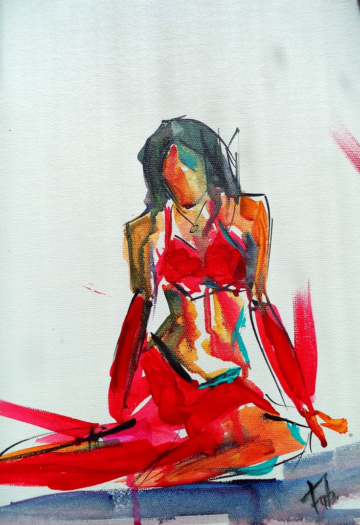Live session - Belly dancer painting / sketch
