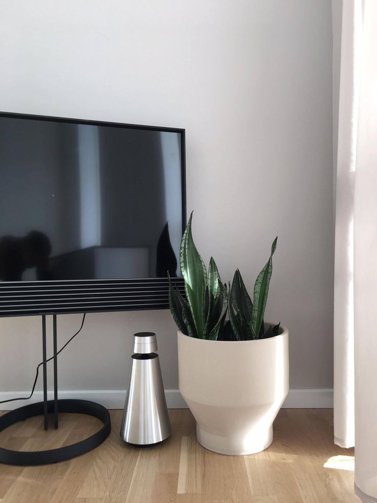 Beautiful photo featuring BeoSound 1 and BeoVision Horizon on the floor stand by @septemberedit