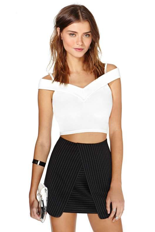 Nasty Gal White Fire Top