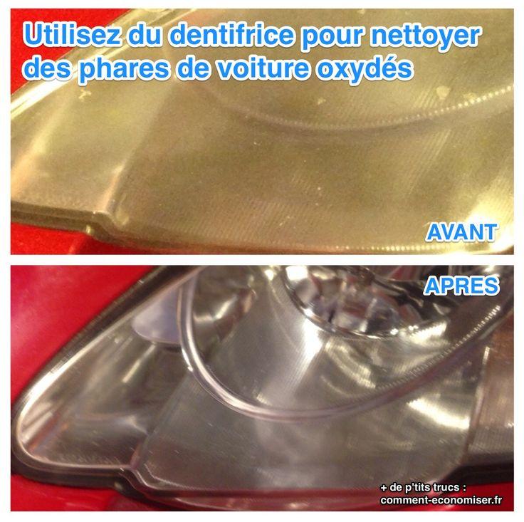 Au bout d'un moment, avec une voiture, les phares sont tellement oxydés que la lumière arrive à peine à passer... Alors pour vous éviter un accident, ou un trou dans votre budget, voici notre technique : vous pouvez utiliser du dentifrice pour nettoyer vos phares !  Découvrez l'astuce ici : http://www.comment-economiser.fr/phares-voiture-oxyde.html?utm_content=buffer79c5d&utm_medium=social&utm_source=pinterest.com&utm_campaign=buffer
