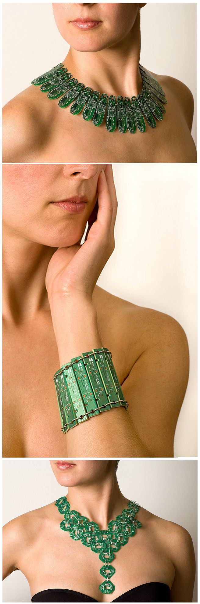 Circuit Board Jewellery Made by Christophe Koch