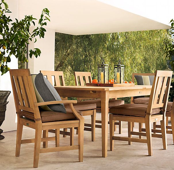 restoration hardware 39 s teak outdoor furniture for the home diy