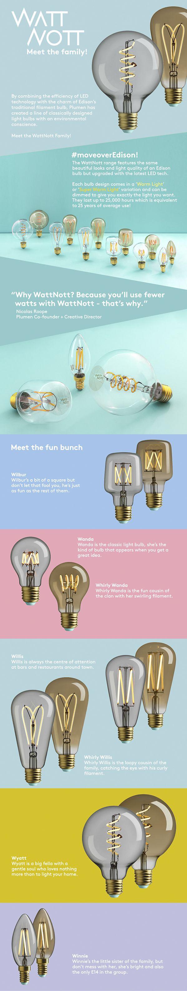 WattNott Filament LED Light Bulbs by Plumen