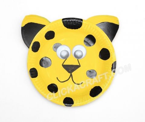 Paper Plate Leopard Art Idea - Crafts for Party Supply and Decorations