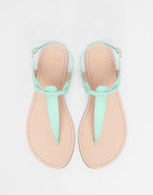 Pull&Bear - femme - chaussures femme - sandales couleur - 1-035 - 11940011-V2015