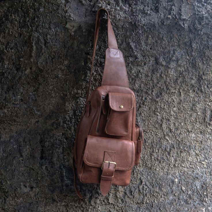 Waistbag Leather Biker