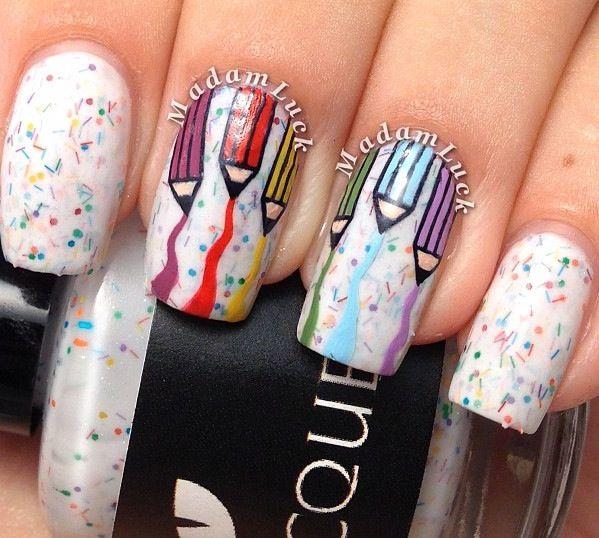 121 best School Inspired Nail Art images on Pinterest | School nail ...