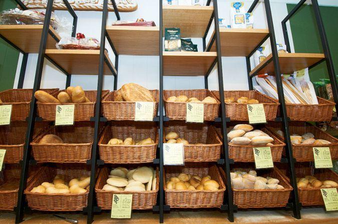 arredamento negozi alimentari panetteria, espositore pane