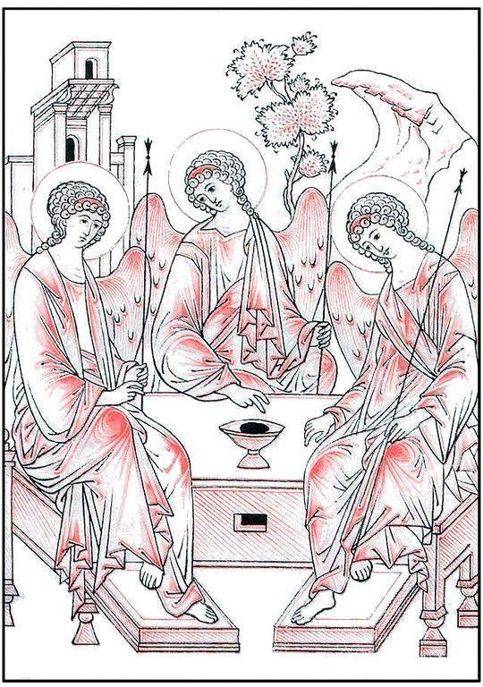 trinity sketch drapery: