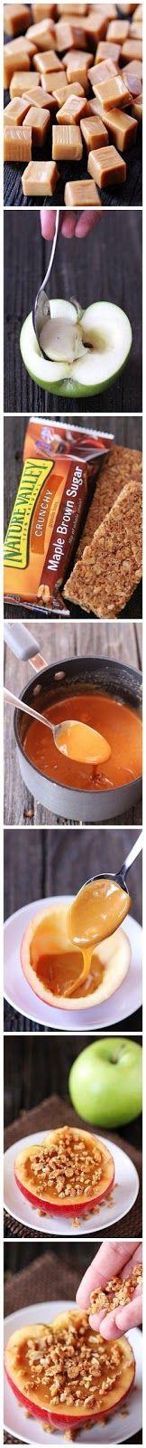 Ricette originali in una foto: mele al forno con caramello