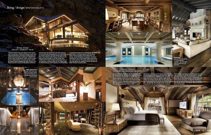 Falstaff Living magazine featuring Chalet Zermatt Peak in October 2013
