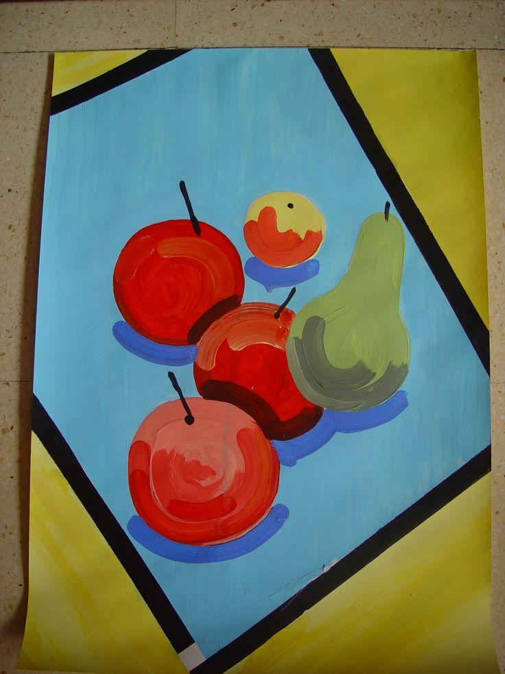 Bodegón frutas. Iconos.