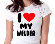 Pipeliners vrouw shirt, womens tee, pipeliner tshirt, ik hou van mijn lasser tee tshirt aangepaste tee, womens pipeliner shirt, womens lassen tshirt
