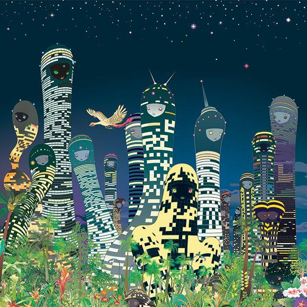 "CHIHO AOSHIMA ""REBIRTH OF THE WORLD"" @ Seattle Asian Art Museum: chiho-aoshima-city-glow-630px.jpg"
