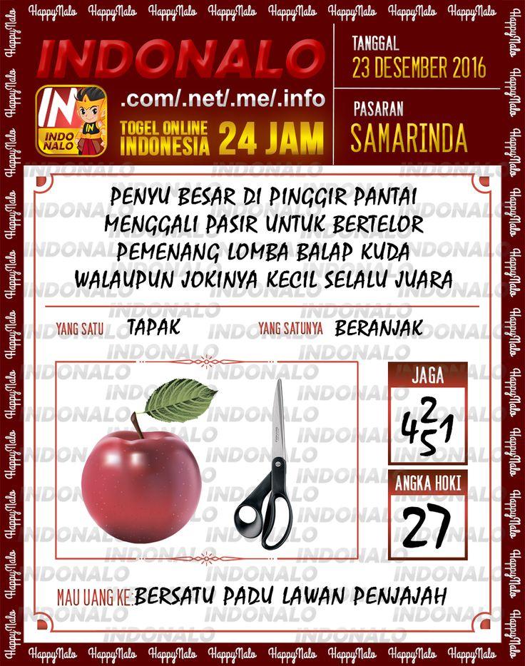 Angka Main 6D Togel Wap Online Live Draw 4D Indonalo Samarinda 23 Desember 2016