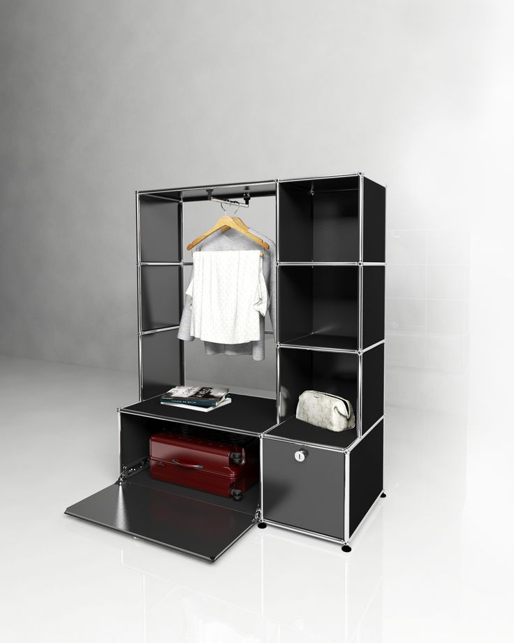 Usm modular furniture wardrobe black usm haller dressing for Meuble bureau usm