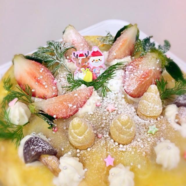 親子クッキングで息子と共同作業(^∀^) - 9件のもぐもぐ - ミルクレープのクリスマスケーキ☆ by kyokyomonaka