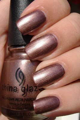 """china glaze """"delight"""" - Coppery brown #nail polish / lacquer / verni, metallic"""