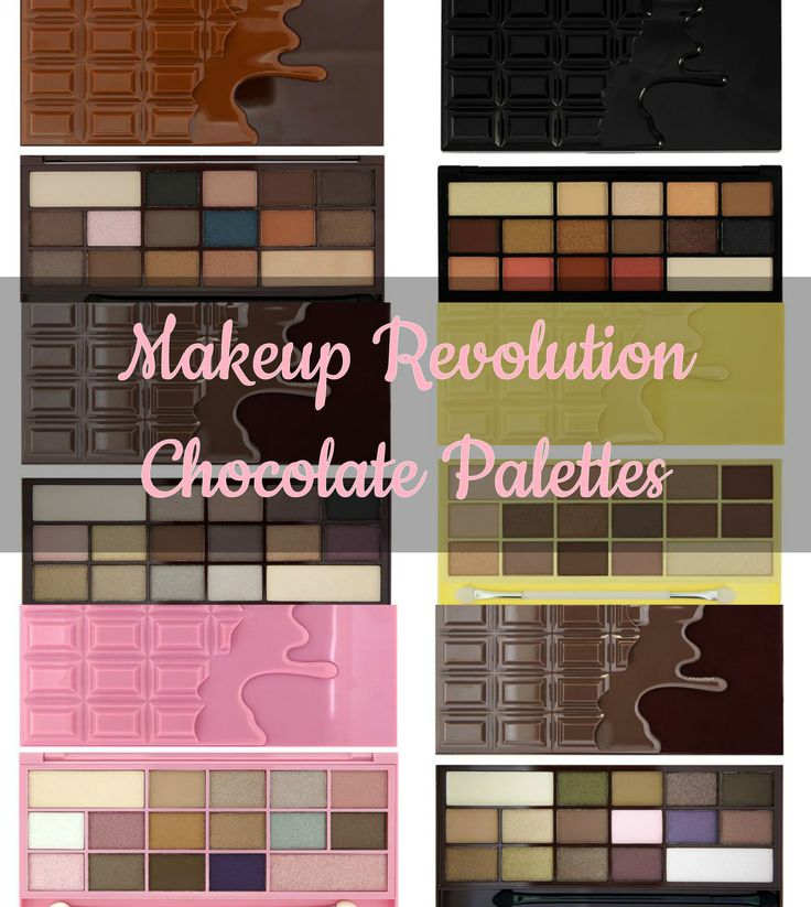 Makeup Revolution Chocolate Palettes got three out of the six...very happy,hopefully ill buy them all