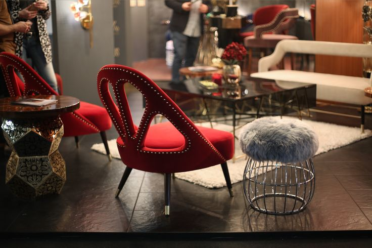 Scarlett Armchair , Andy Stool and Kelly Twinseat by Ottiu at Euroluce 2017, Milano.