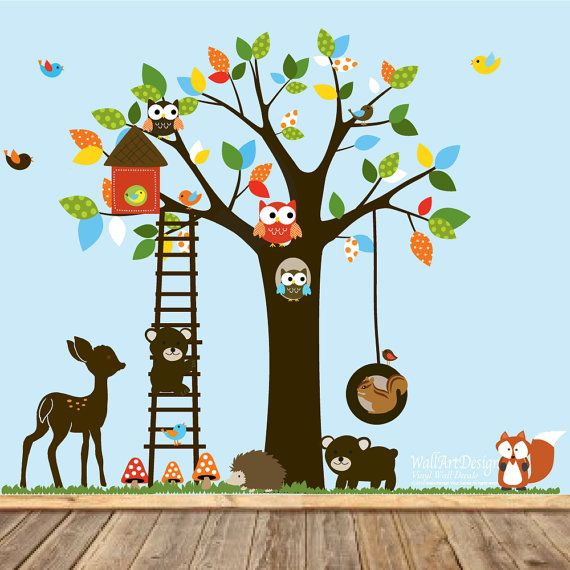 Adesivi decalcomania swing tree