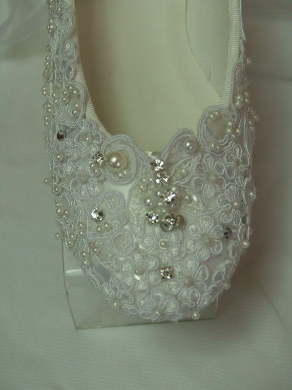 Wedding Ballerina Slippers Regally enhanced with by NewBrideCo