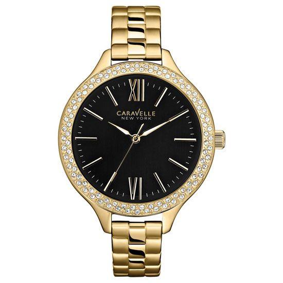 Caravelle New York - Ladies Carla Gold Bracelet Watch - 44L126 - RRP: £85.00 - Online Price: £72.00