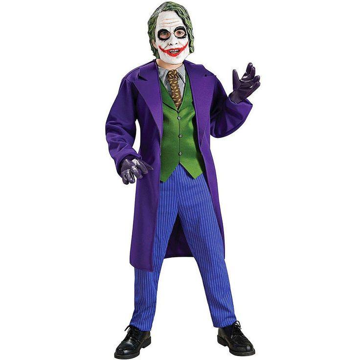 Batman The Dark Knight Deluxe The Joker Costume - Kids, Boy's, Size: 12-14, Purple