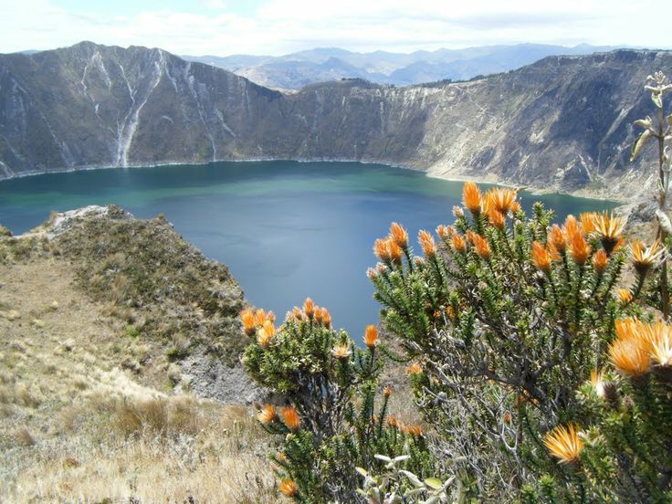 Quilotoa Crater Lake – Ecuador.   Quilotoa is a water-filled caldera and the most western volcano in the Ecuadorian Andes. The Lake is too beautiful volcanic lake located at 3800 m (12,400 feet) between the towns of Zumbahua and Chugchilan. Its emerald water spans two kilometers. Local legend claims it is connected to the ocean and is therefore salty and sulfuric. Quilotoa is an active volcano, the last major eruption was over 850 years ago.